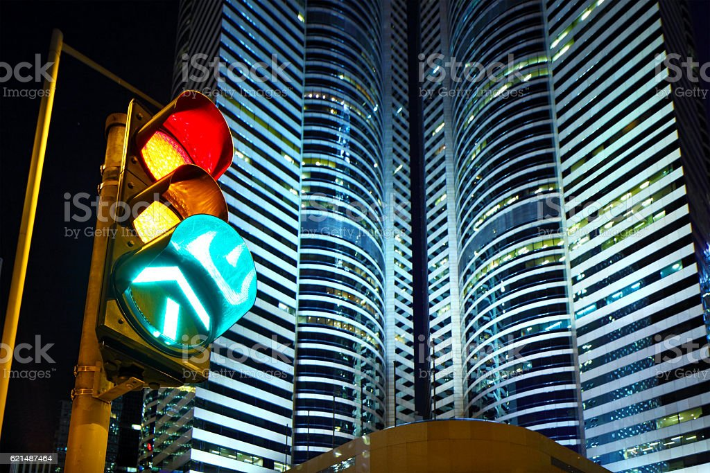 Traffic lights in Hong Kong photo libre de droits