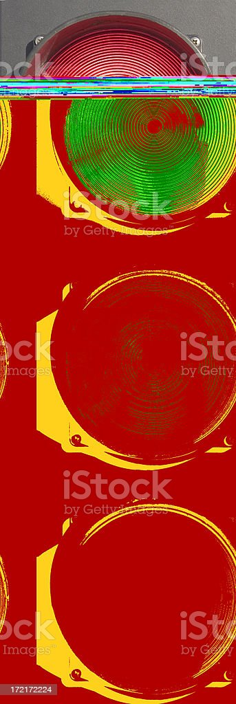 Traffic lights isolated on white red, amber, green royalty-free stock photo