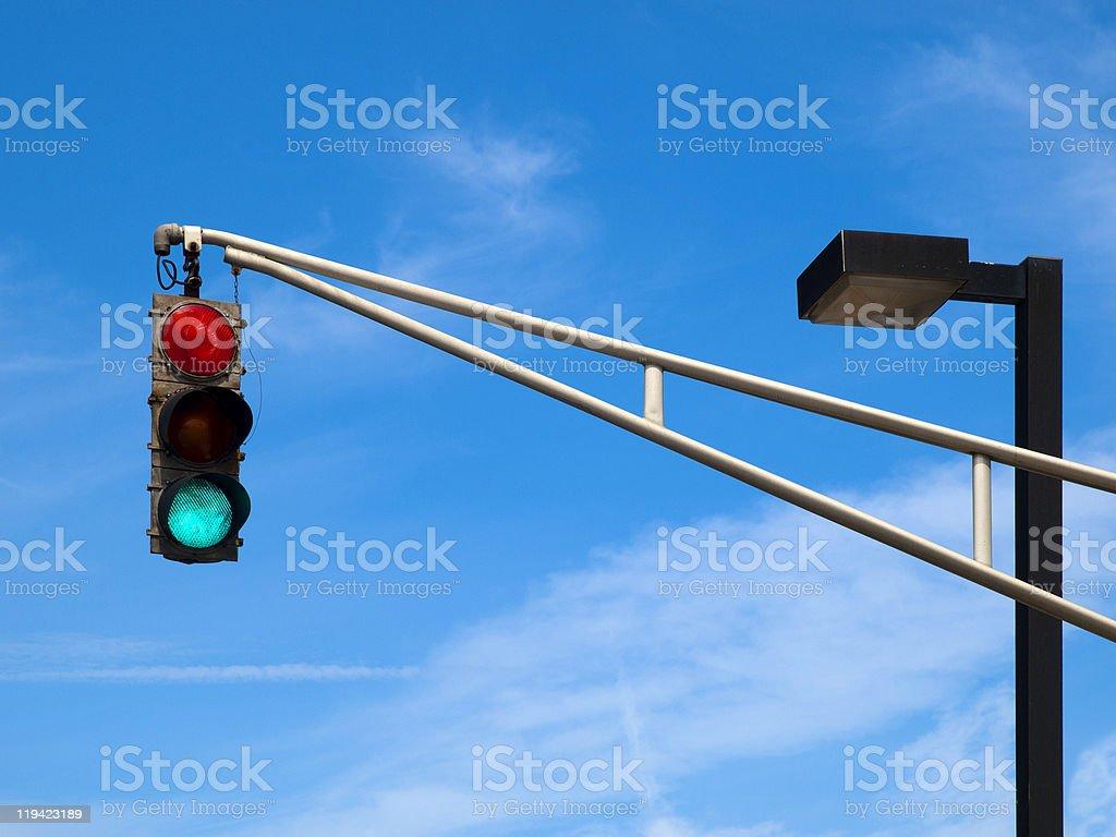Traffic Lights on the sky stock photo