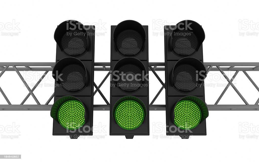 LED traffic lights royalty-free stock photo