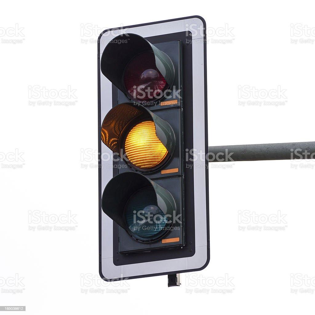 Traffic lights (orange) royalty-free stock photo