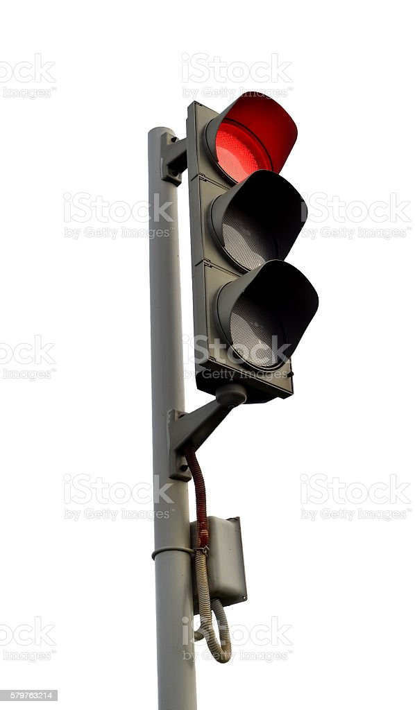 Traffic lights - red light stock photo