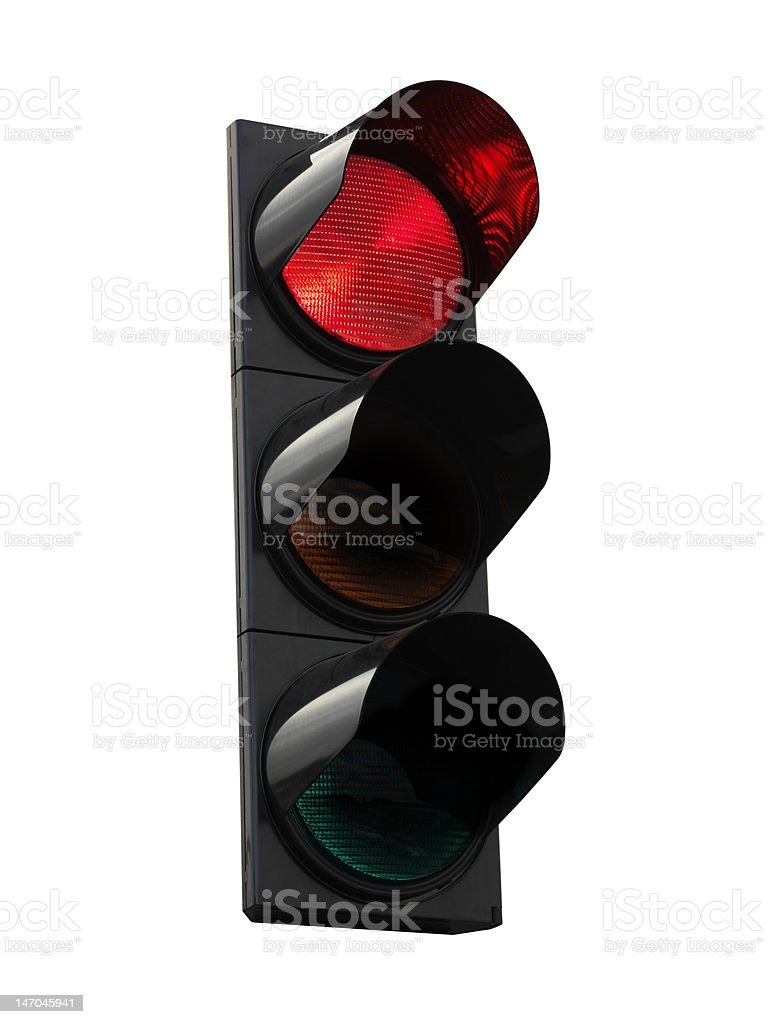 Traffic lights - red royalty-free stock photo