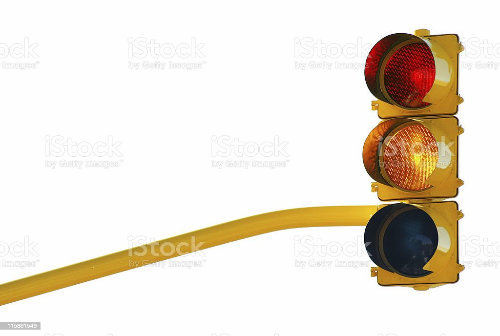 Traffic lights red-orange with path royalty-free stock photo