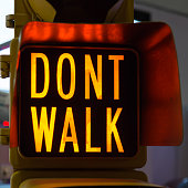 Traffic Lights with Dont Walk, Street Signal