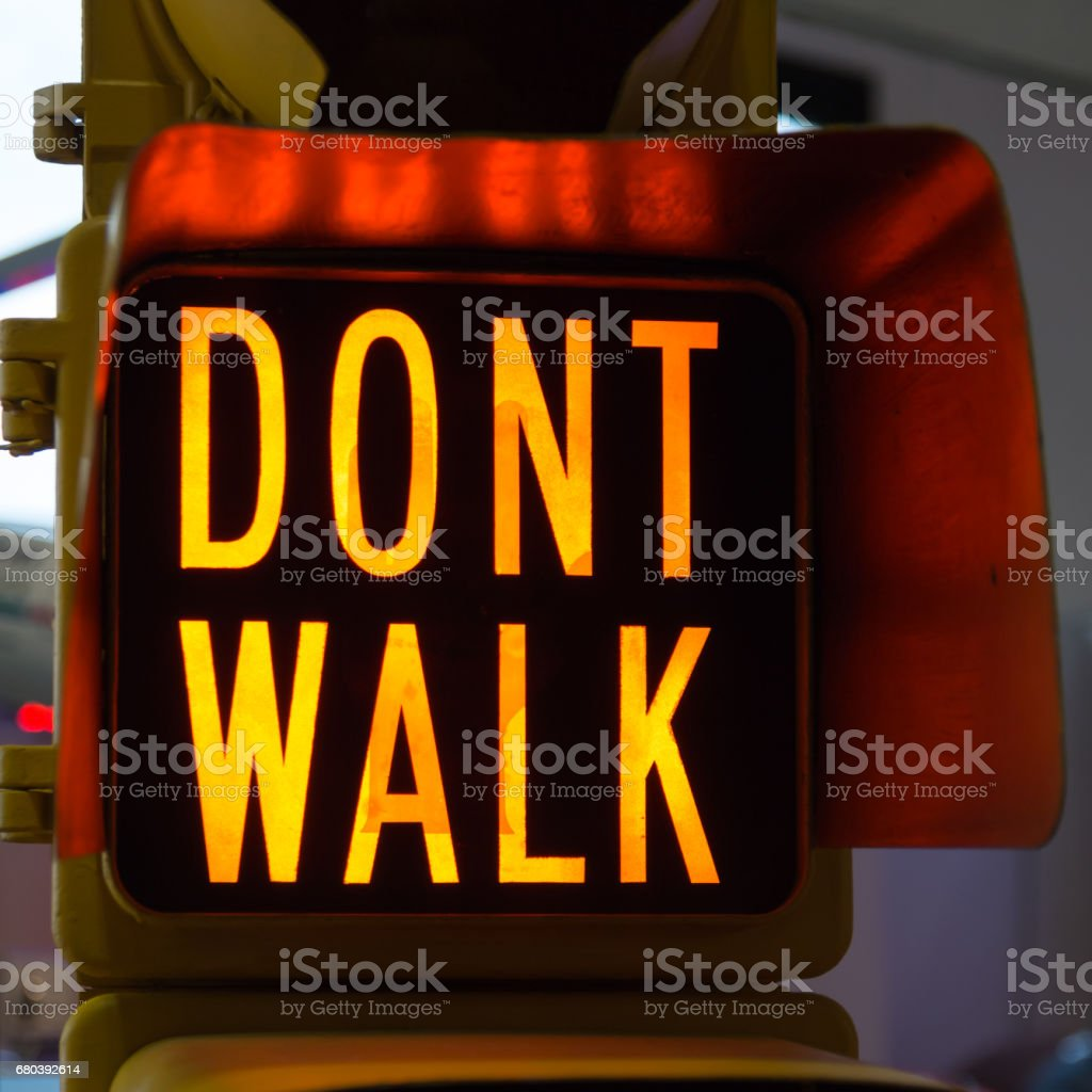 Traffic Lights with Dont Walk, Street Signal stock photo