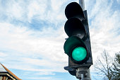 Traffic lights with green light