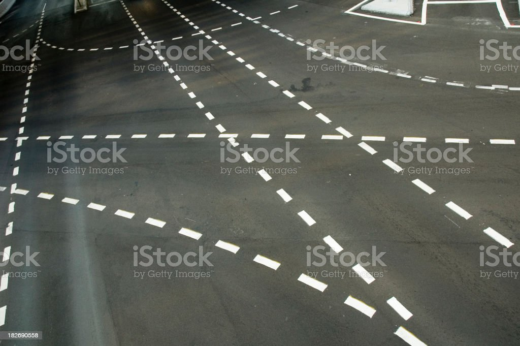Traffic lines royalty-free stock photo