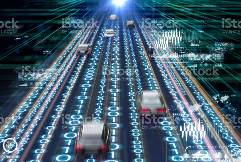 Traffic management system concept. Digital transforamtion. stock photo