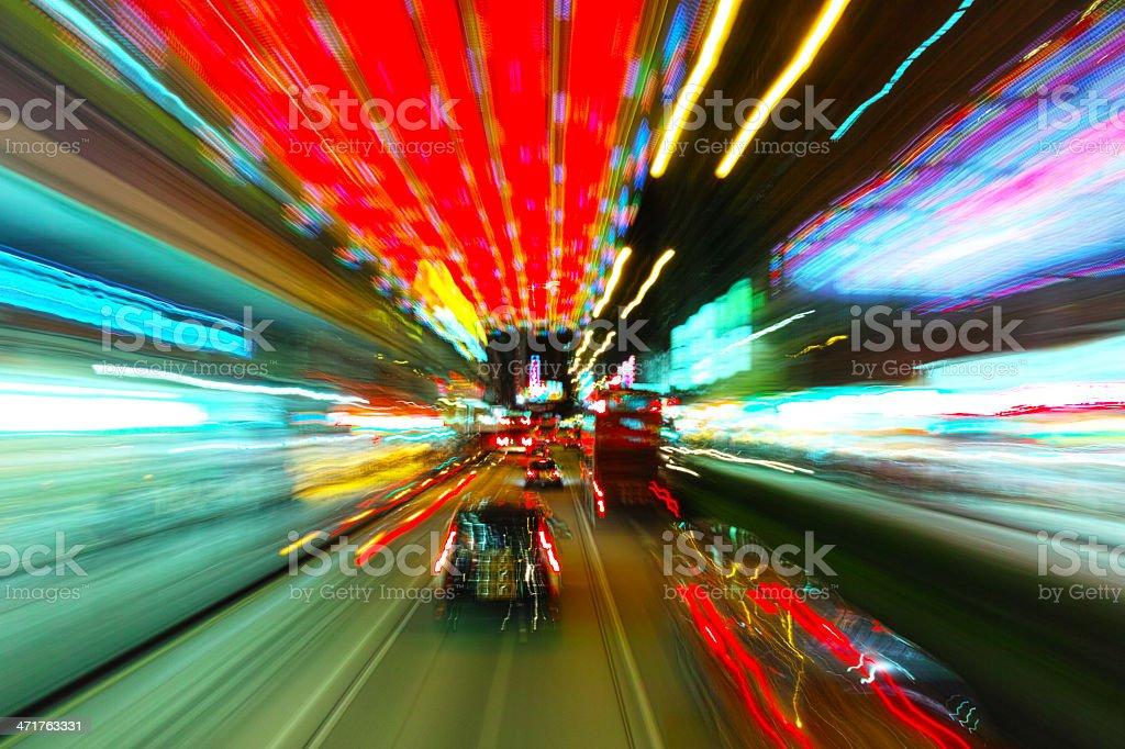 Traffic motion blur royalty-free stock photo