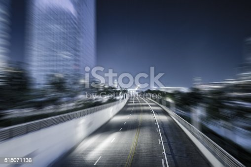 515009182 istock photo traffic night of city 515071136