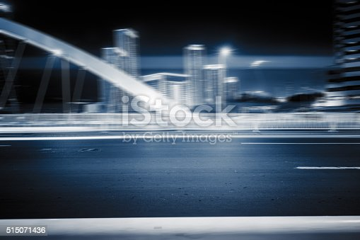 515009182 istock photo traffic night of city 515071436