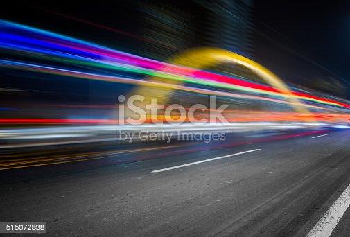 515009182 istock photo traffic night of city 515072838