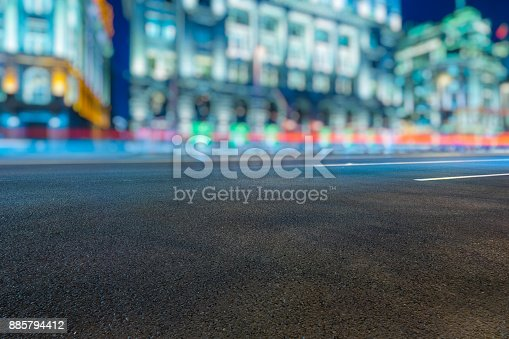515009182 istock photo Traffic night of city 885794412