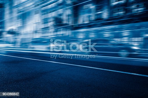 515009182 istock photo Traffic night of city 904386842