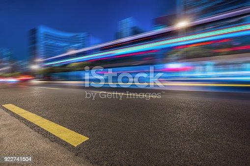 515009182 istock photo Traffic night of city 922741504