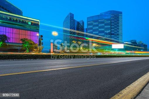 515009182 istock photo Traffic night of city 926472530