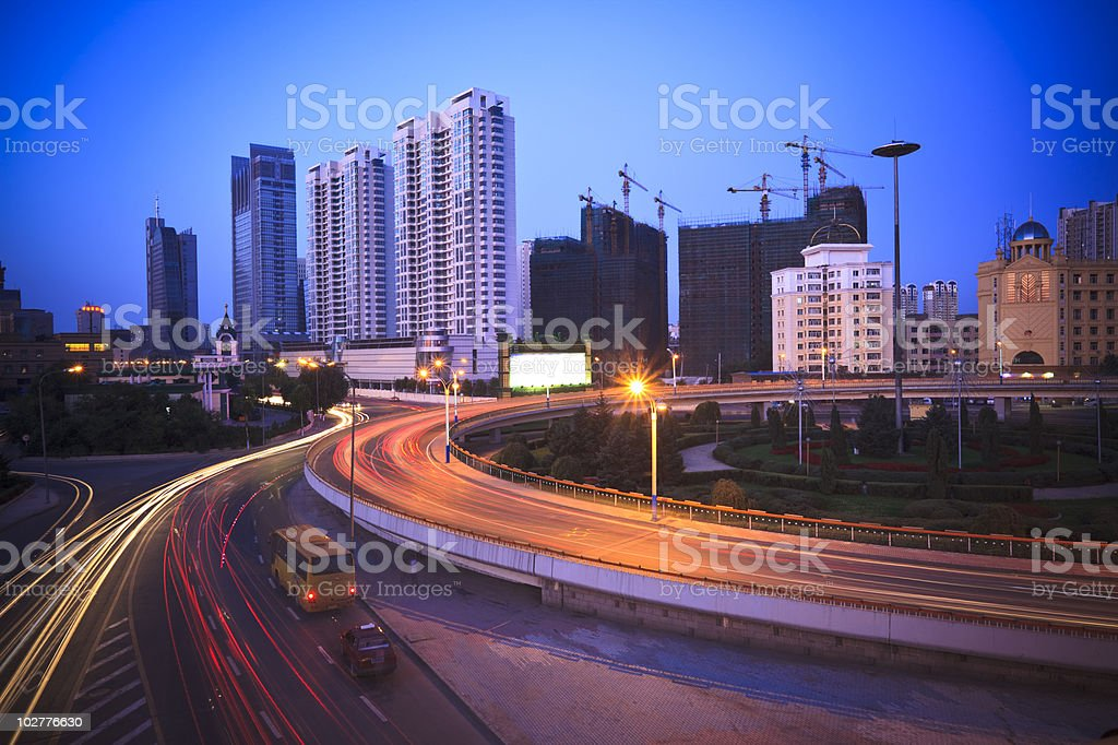 traffic night royalty-free stock photo