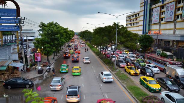 Traffic of Bangkok Thailand stock photo