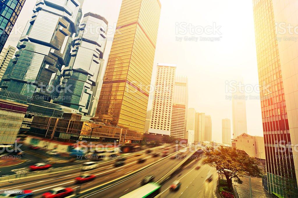 Traffic of HongKong stock photo