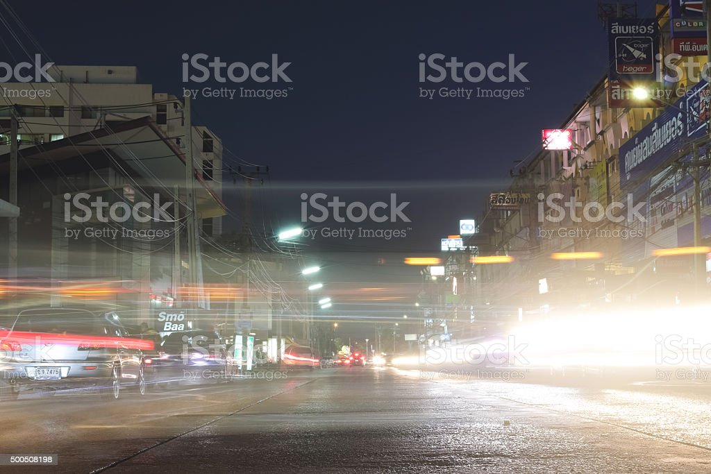 NONTHABURI, THAILAND – OCTOBER 30, 2015: Traffic of Muang Thon stock photo