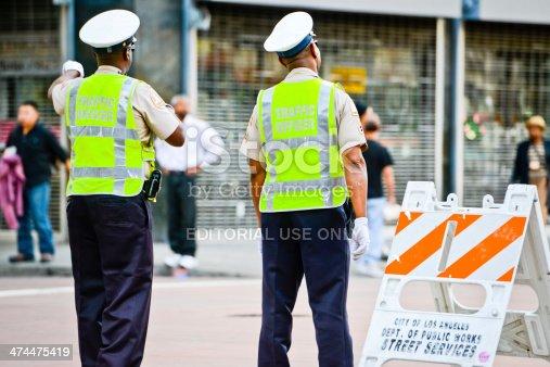istock Traffic Officers on Los Angeles Street 474475419