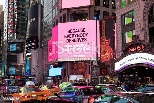 istock Traffic on 7th Avenue at Times Square, Manhattan, New York 958206286