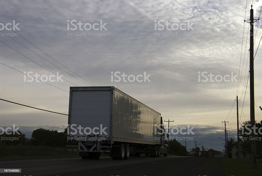 Traffic on a Canadian highway royalty-free stock photo