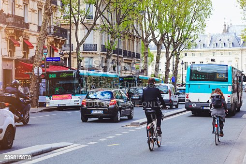 istock Traffic on a Paris street 539815878