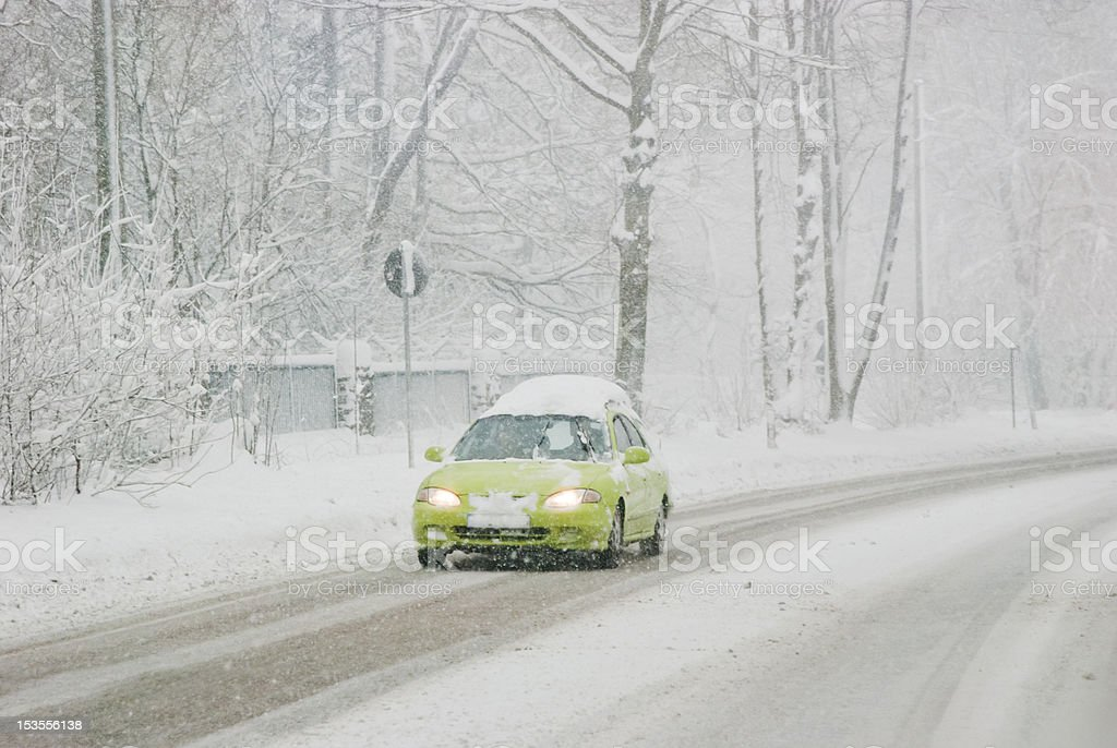 Traffic On A Winter Day royalty-free stock photo
