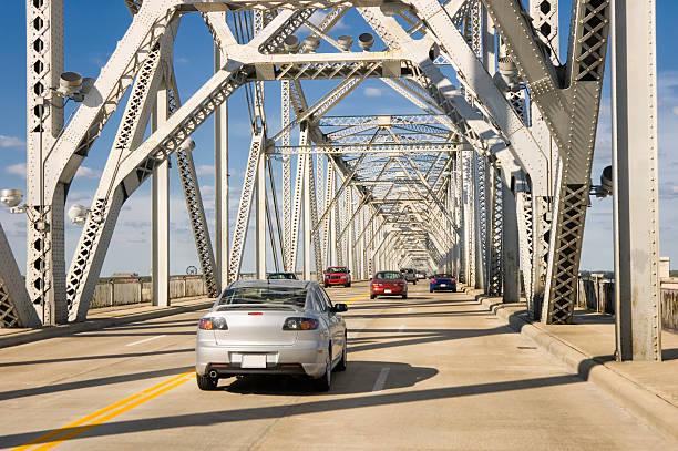 Traffic on American Interstate Highway Bridge, Louisville, Ky stock photo