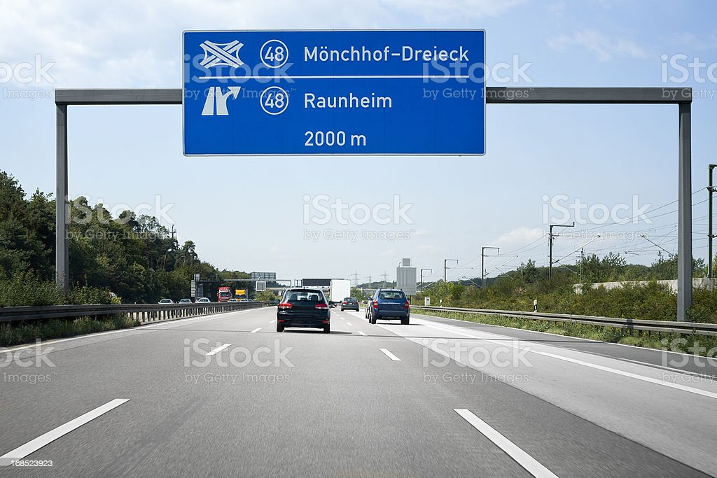 Traffic on Autobahn A3 stock photo