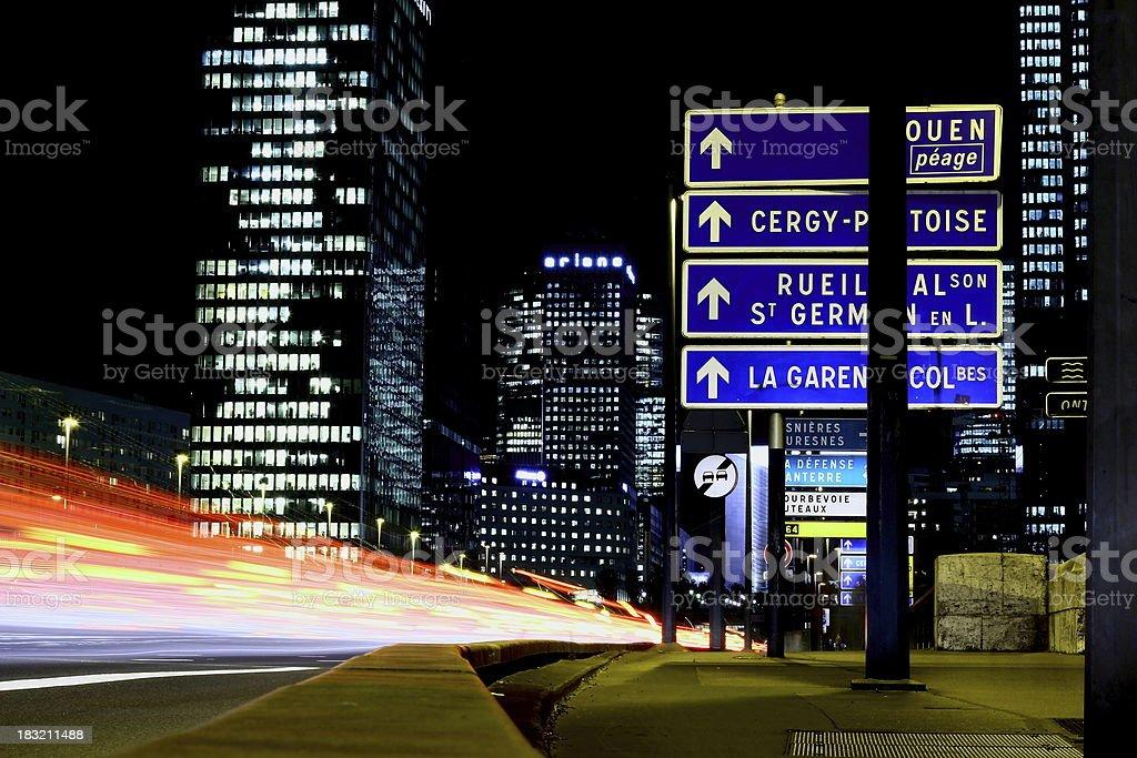Traffic on Neuilly bridge,Paris stock photo