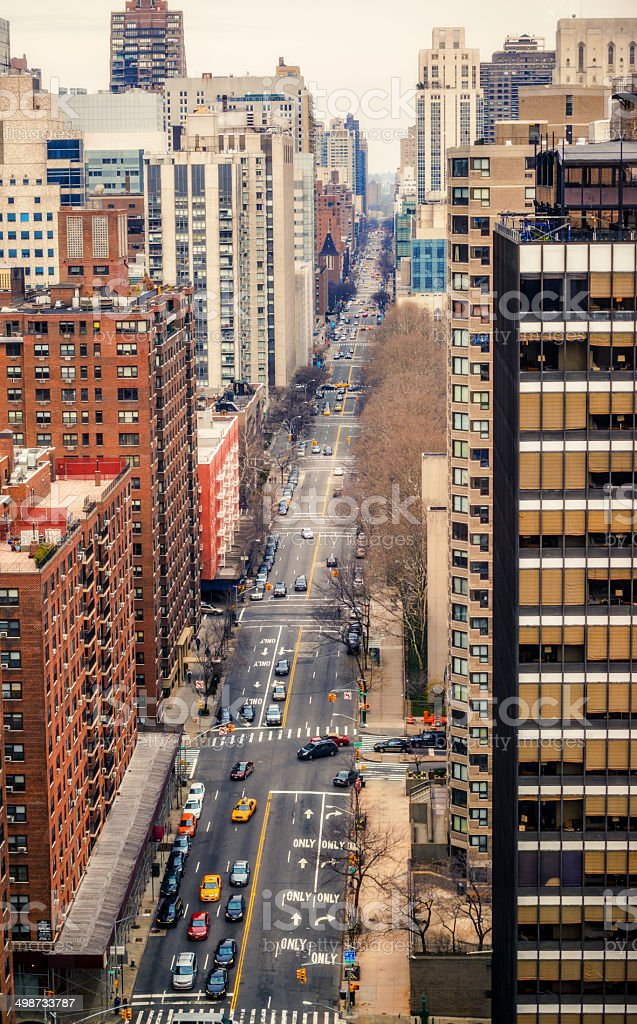 Traffic on  New York Avenue, USA stock photo