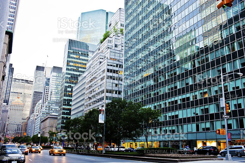 Traffic on Park Avenue, New York stock photo