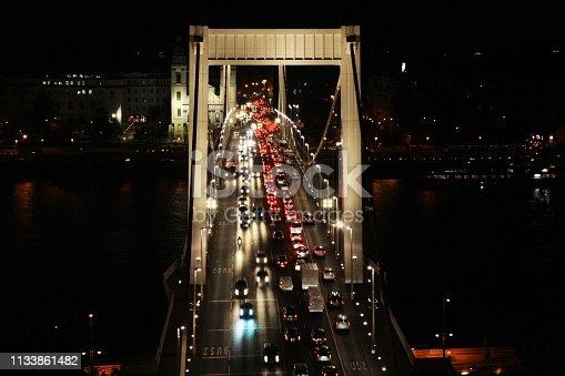 599471112istockphoto Traffic on the Elisabeth Bridge at night. 1133861482