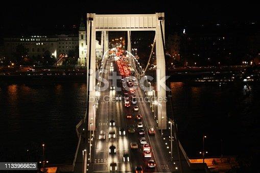 599471112istockphoto Traffic on the Elisabeth Bridge at night. 1133966623