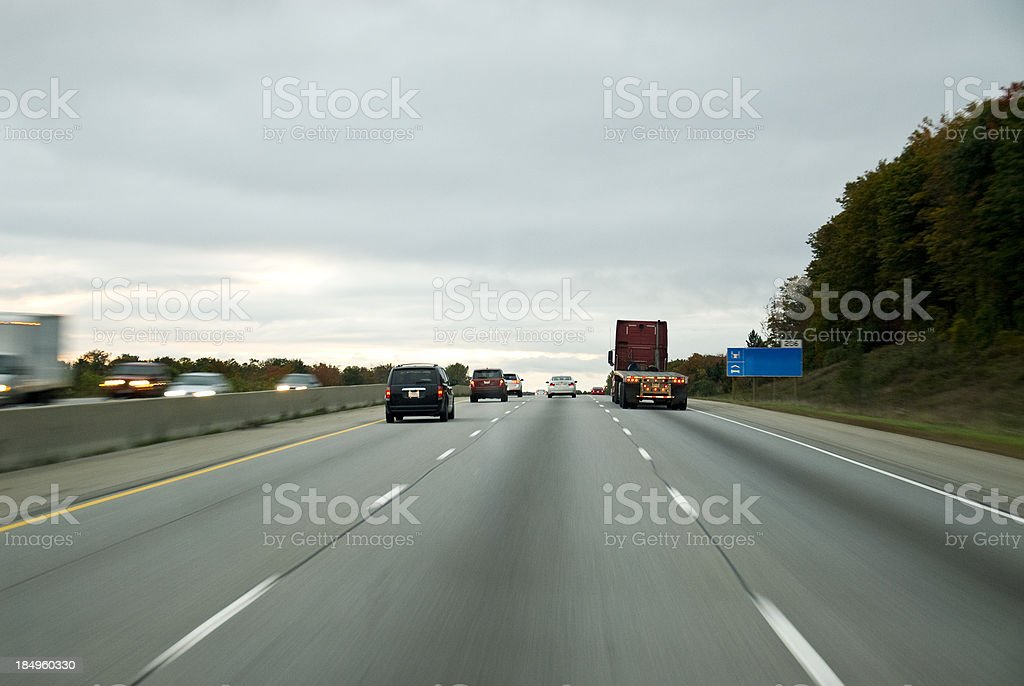 Traffic on the highway stock photo