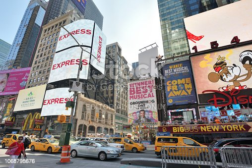 istock Traffic on Times Square in Manhattan 1068798676