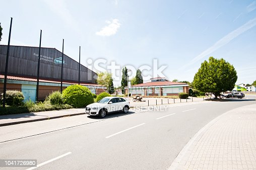 1045032684 istock photo Traffic Outside A German High School Building (Rupert-Neudeck-Gymnasium) Nottuln – Germany 1041726980