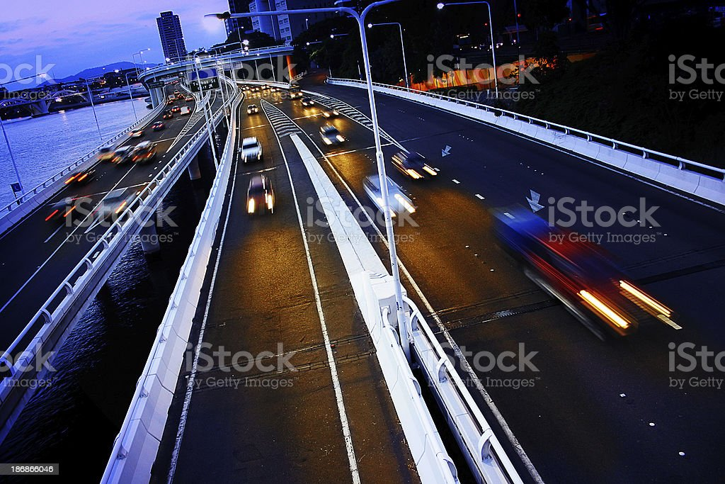 Traffic over the river royalty-free stock photo