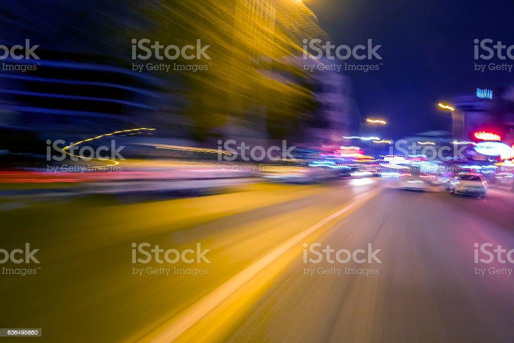 Traffic panorama stock photo