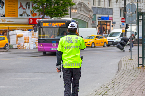 Traffic Police In Istanbul Stock Photo - Download Image Now