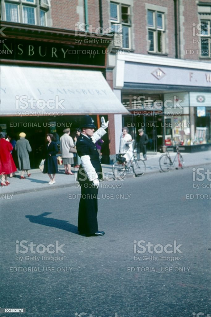 Traffic policeman, London stock photo
