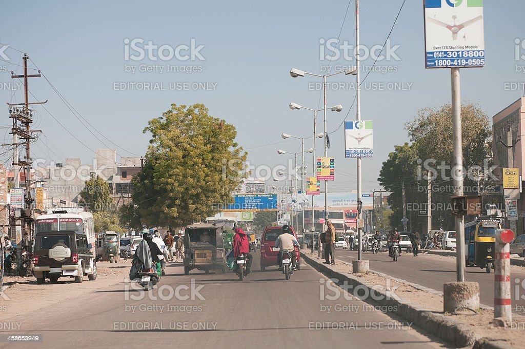 Traffic pollution in Jodhpur, India royalty-free stock photo