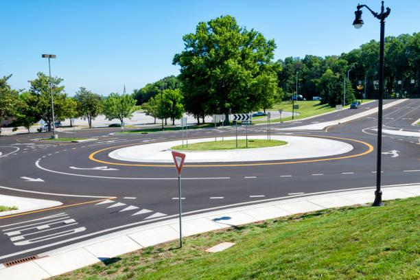 Kreisverkehr Verkehrsknotenpunkt – Foto
