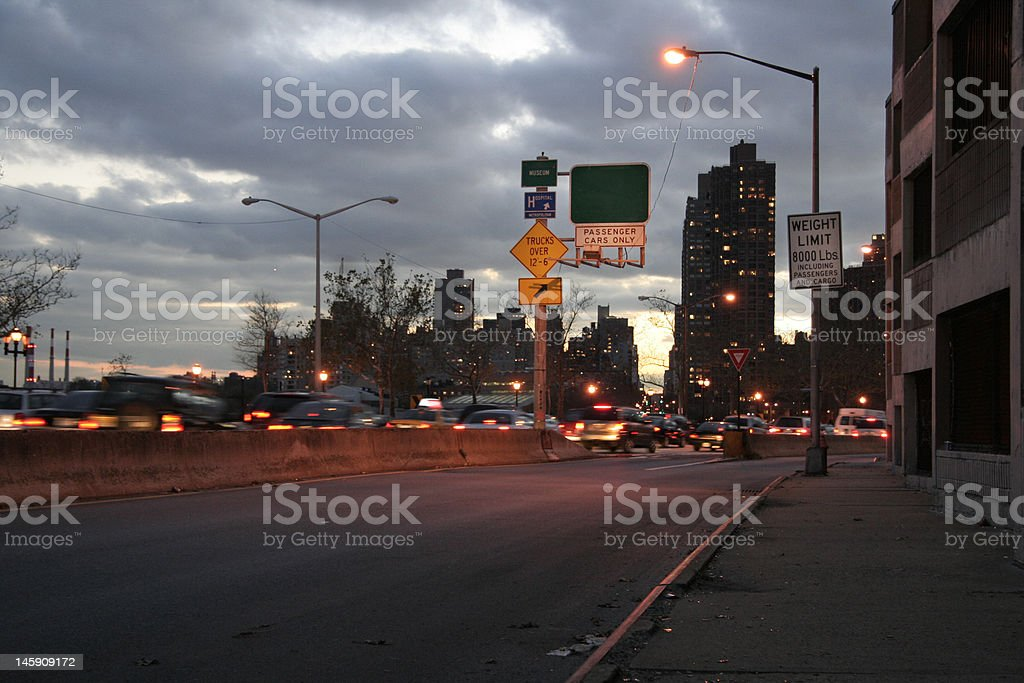 traffic route royalty-free stock photo