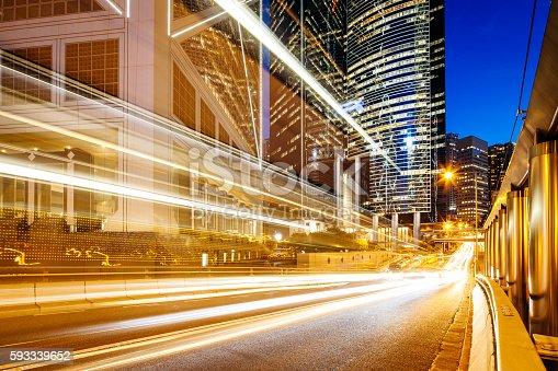 1154996700istockphoto Traffic scene in Hong Kong at night 593339652