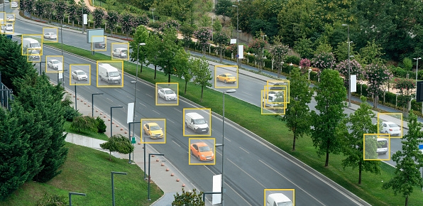 Facial Recognition Technology, Security Camera, Smart City, Surveillance, Traffic