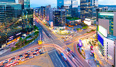 Traffic Seoul City at Gangnam  district South Korea
